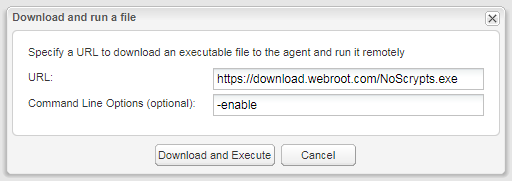Disable execution of script files | Webroot Community